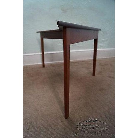 Wood Mid Century Modern Studio Made Triangle Boomerang Low Table For Sale - Image 7 of 13