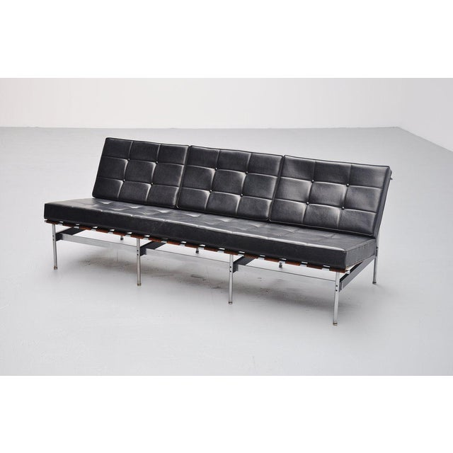 Animal Skin Kho Liang Ie 416/3 Sofa for Artifort Holland 1959 For Sale - Image 7 of 10