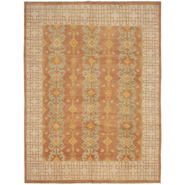 """Classic Hand-Knotted Rug, 8'6"""" X 11'1"""" For Sale - Image 6 of 6"""