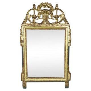 Swedish Gilt Wall Mirror For Sale