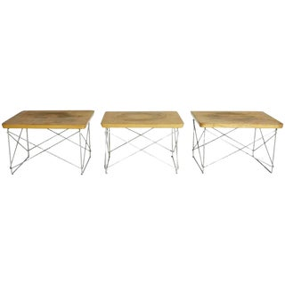 1950s Early Production Eames for Herman Miller Birch LTR Tables- Set of 3 For Sale