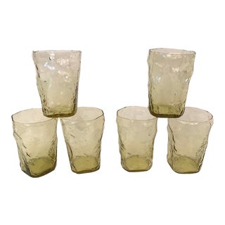 Vintage Rock Face Glasses - Set of 6 For Sale