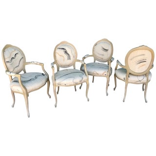 Set of Four Vintage Modern Art Dining or Game Table Chairs From Steve Chase For Sale
