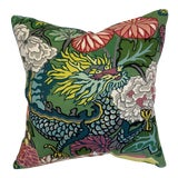 Image of Schumacher Chiang Mai Dragon Throw Pillow For Sale