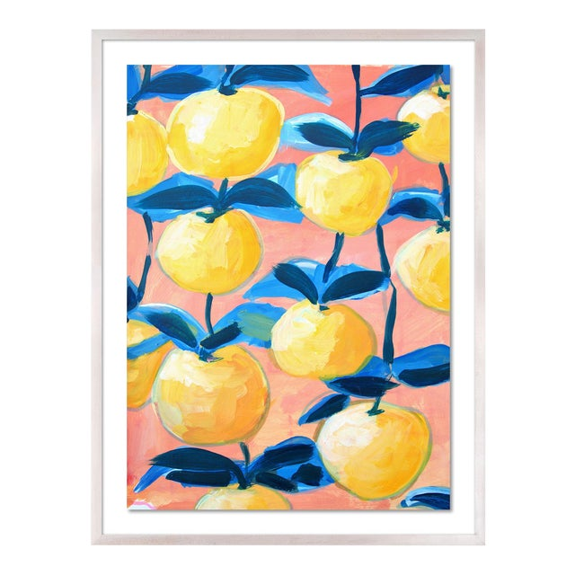 Orchard 2 by Lulu DK in White Wash Framed Paper, Medium Art Print For Sale