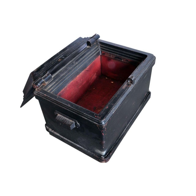 Industrial Antique Strong Box For Sale - Image 3 of 5
