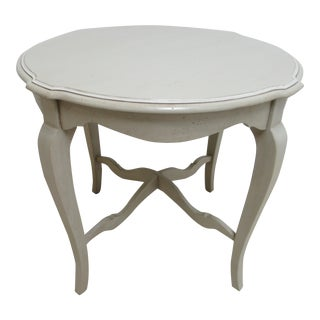 Ethan Allen Country French Maison Paint Decorated Lamp End Table
