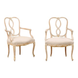 Venetian Style Ribbon Back Chairs - a Pair For Sale