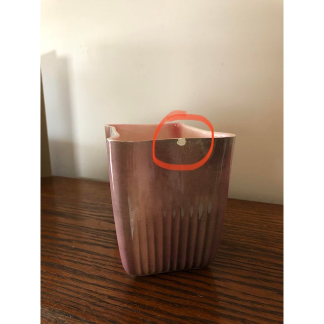 1950s Mid-Century Modern Usa Pink Planter For Sale - Image 5 of 8