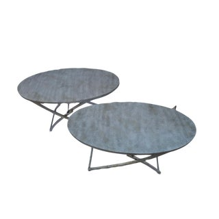 USM Industrial Tray Metal Tables - a Pair For Sale