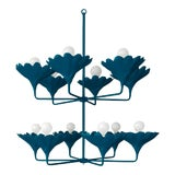 Image of Stray Dog Designs for Chairish Arlo Chandelier, Deep Blue For Sale