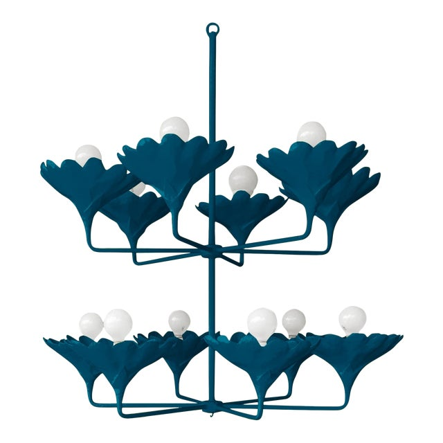 Stray Dog Designs for Chairish Arlo Chandelier, Deep Blue For Sale