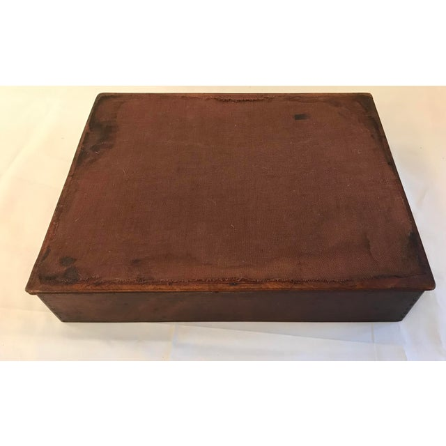 "Wood Vintage Wooden ""In"" Box For Sale - Image 7 of 8"