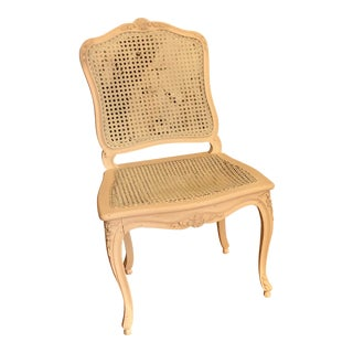 Vintage French Provincial Shabby Chic Desk and Caned Chair - 2 Pieces For Sale