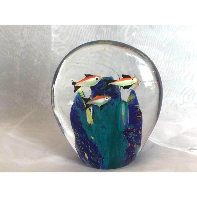Mid-Century Murano Art Glass Aquarium Sculpture For Sale - Image 12 of 12