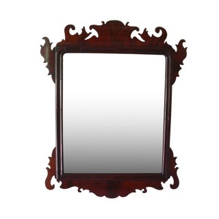 Mid 19th Century Antique Chippendale Mahogany Mirror For Sale