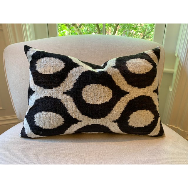 """Contemporary Contemporary Found Object Ikat Pillow - 22.5"""" X 15 For Sale - Image 3 of 3"""