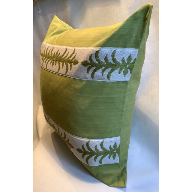 Contemporary Pillow Covers in Clarence House Fabric - A Pair For Sale - Image 9 of 10