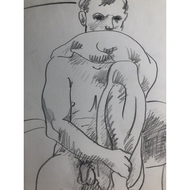 "Contemporary ""Steve French, Model"" Male Nude by James Bone, 1995 For Sale - Image 3 of 4"