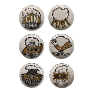 Fornasetti Vintage Cocktail Coasters - Set of 6 For Sale