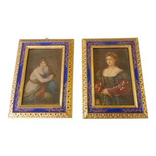 Italian Prints in Gilt Frames, Pair For Sale