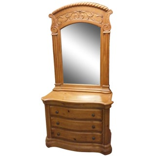 Gentleman's Chest and Mirror For Sale