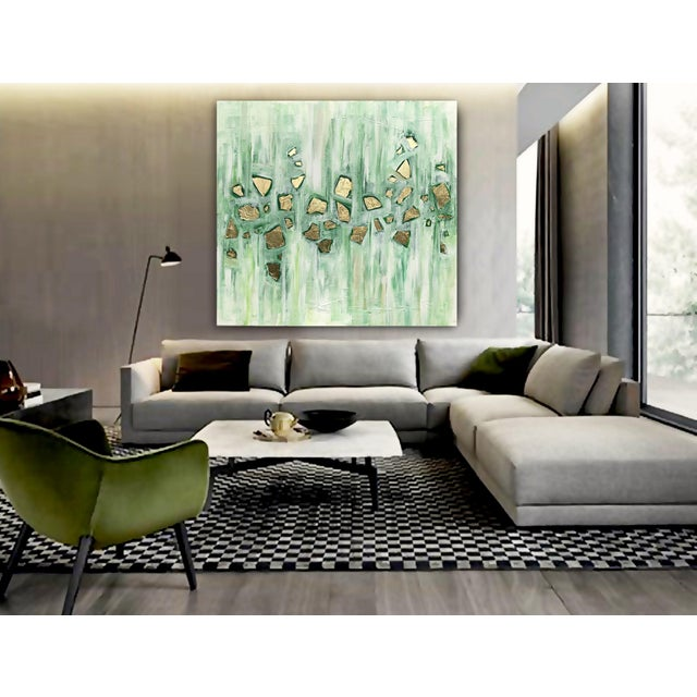 'Viridescence' Original Abstract Painting by Linnea Heide For Sale - Image 6 of 10