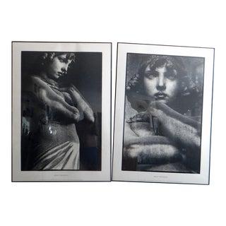 "1990s BorjeTobiasson ""Viso D' Angelo"" & ""Angelo"" Black White Serigraph Prints - a Pair For Sale"