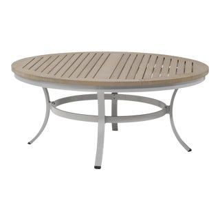 "48"" Round Outdoor Chat Table, Vintage For Sale"