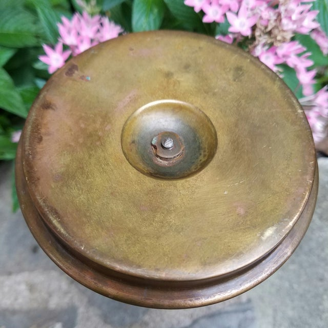 Continental Bronze & Porcelain Candlestick - Image 9 of 9
