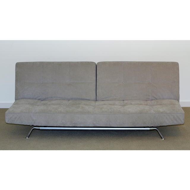Gray Ligne Roset Smala Sofa in Custom Light Gray Suede For Sale - Image 8 of 10