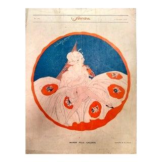 """R. Polack 1924 """"Manon Fille Galante"""" Le Sourire Print"""