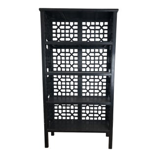Black Latticework Bookshelf For Sale