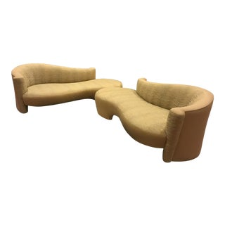 Weiman Golden Upholstered Sofas - A Pair For Sale