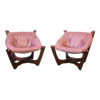 Mid Century Modern Odd Knutsen Luna Chairs- a Pair For Sale