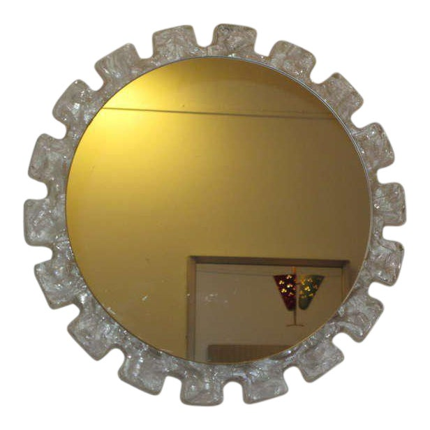 A Pair of 1970's Illuminated Resin Mirrors For Sale