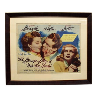 "Art Deco ""The Strange Love of Martha Ivers"" 46 / 618 Pinting Print For Sale"