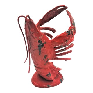 Cast Iron Lobster Form Wine Holder