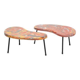Kidney Shaped Tables France 1960 - a Pair For Sale