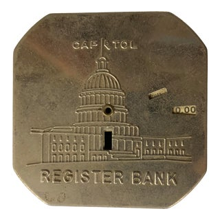 Vintage Capitol Register Metal Savings Bank For Sale