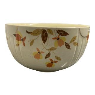 "Vintage Hall's Superior ""Autumn Leaves"" Large Round Ceramic Bowl For Sale"