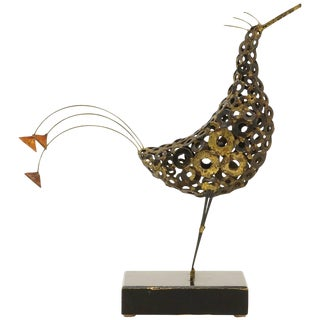 Tabletop Bird Sculpture in the Manner of Curtis Jere For Sale