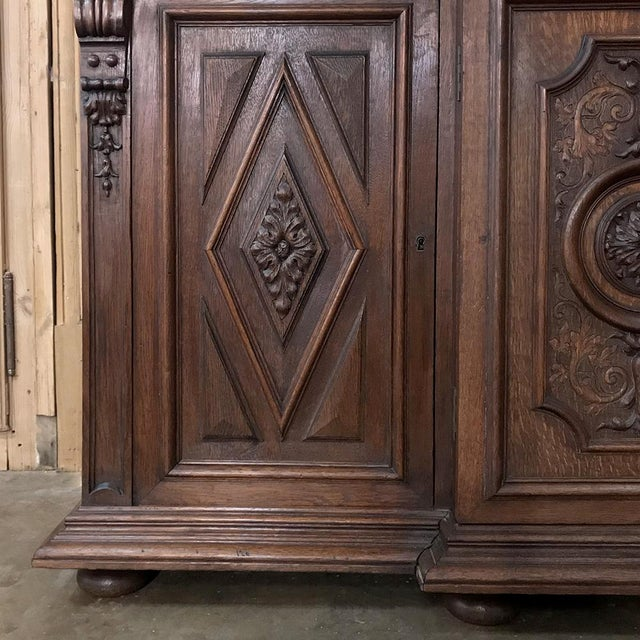 19th Century French Renaissance Grand Bookcase For Sale - Image 10 of 13