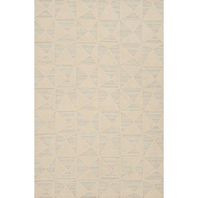 Schumacher Patterson Flynn Martin Gerrits Handwoven Wool Silk Geometric Rug For Sale