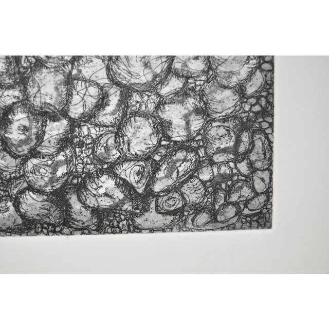 Abstract black and white etching by california artist arnold grossman image 5 of 6