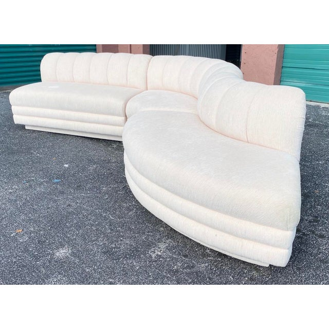 Vladimir Kagan Contemporary Boucle Stacked Sectional Sofa - Set of 3 For Sale - Image 4 of 4