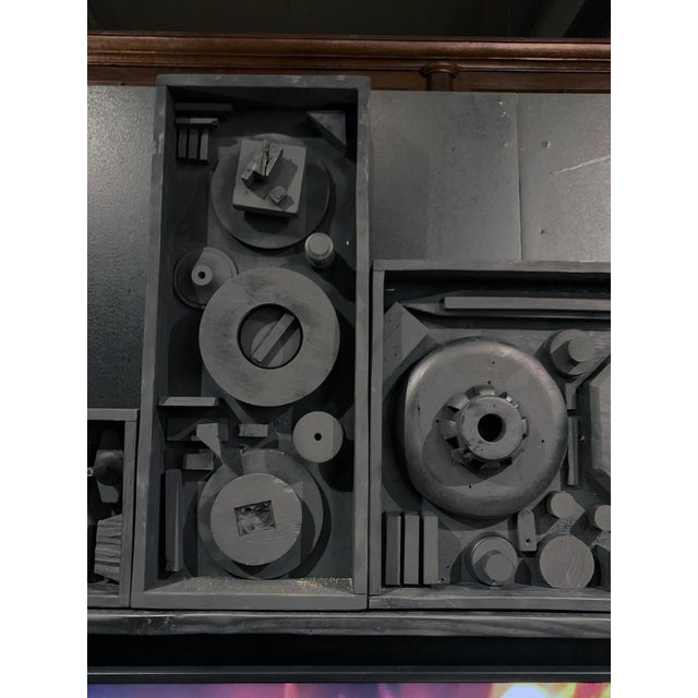 Brutalist Gt Atelier Custom Tv Art Wall by the Golden Triangle Chicago For Sale - Image 3 of 13