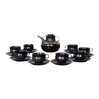 Tapio Wirkkala Tea Set for Rosenthal Series Noire For Sale