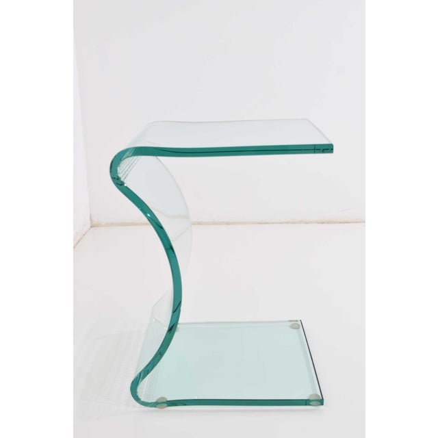 L. Fife Signed Glass Side Table For Sale - Image 12 of 12