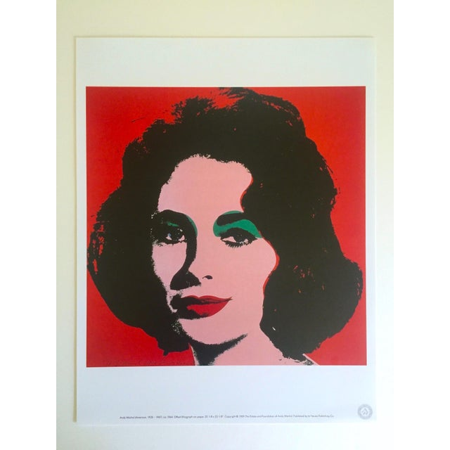 "Orange Andy Warhol Estate Rare 1989 Collector's Lithograph Pop Art Print "" Liz Taylor "" 1964 For Sale - Image 8 of 10"